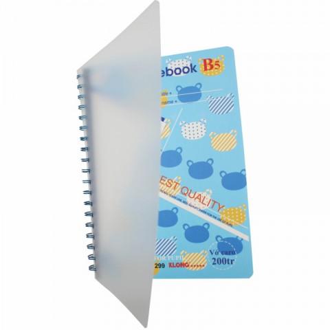 Sổ lò xo kép Caro B5 bìa nhựa - 200 trang Klong