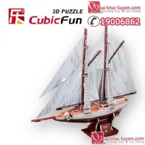 Xep hinh 3D - Tau Two-master schooner