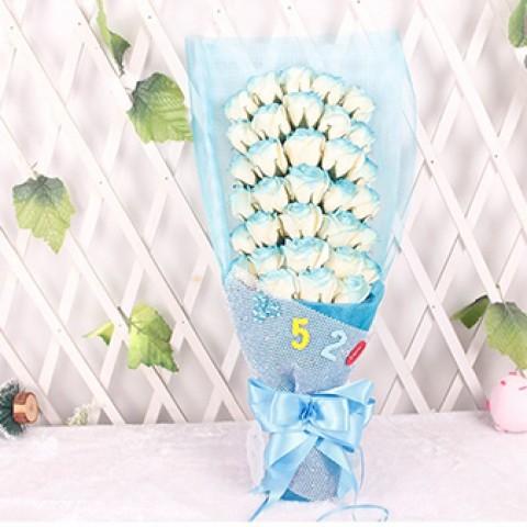 Hoa hồng 33 bông - Gift-set xanh