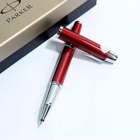 Bút dạ bi Parker IM đỏ cài bạc