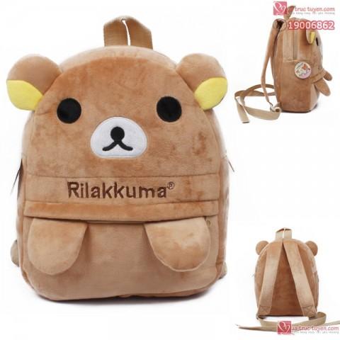 Bộ gấu bông và balo Rilakkuma cho bé