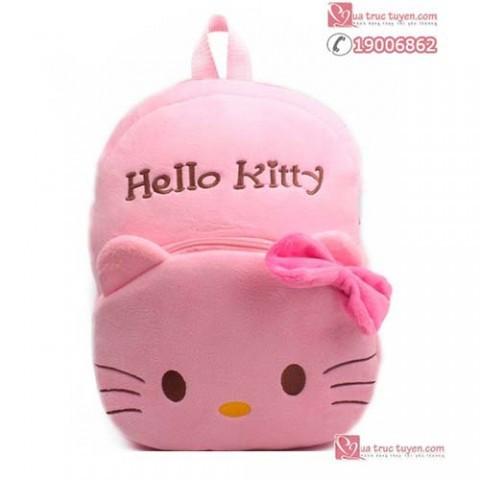 Bộ mèo bông và balo Hello Kitty