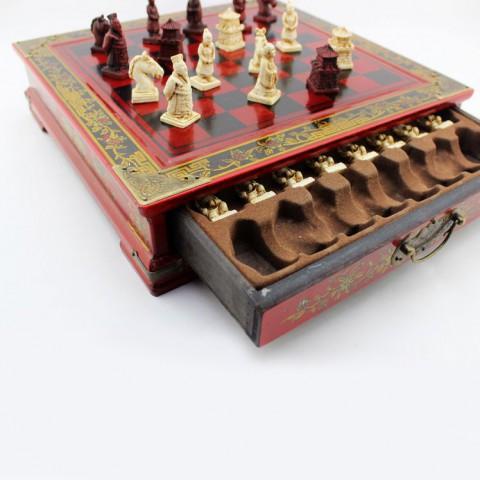 Bàn cờ vua kiểu ngăn kéo Chiến Binh Đất Nung