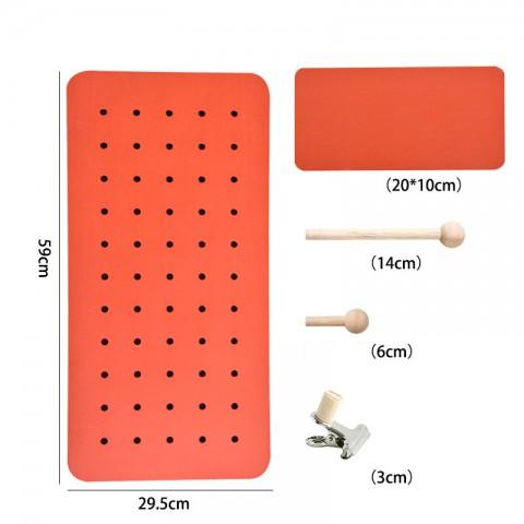 Bảng Pegboard treo tường bằng gỗ hình chữ nhật 29*59cm