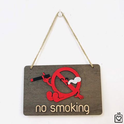 Biển treo gỗ không hút thuốc