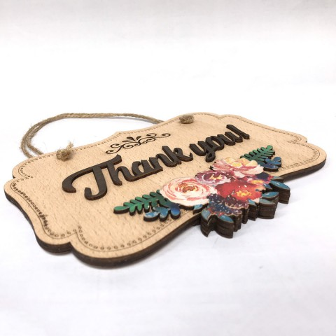 Biển treo cửa 2 mặt Welcome-Thankyou