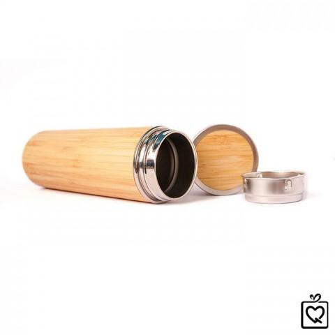 Bình giữ nhiệt vỏ tre lõi inox 450ml
