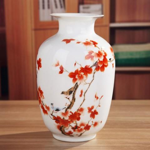 Bình hoa trang trí - Bức họa mùa thu