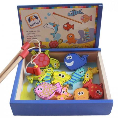 Bộ đồ chơi câu cá bằng gỗ Boikido