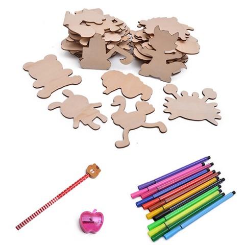 Bộ khung tập vẽ và tô màu bằng gỗ cho bé
