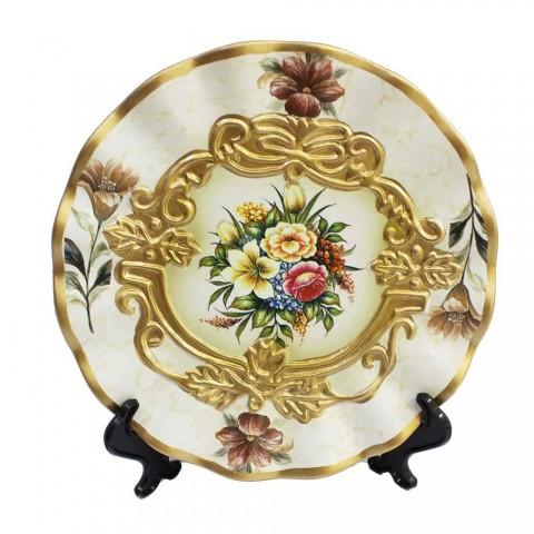 Bộ lục bình tranh đĩa hoàng gia trắng