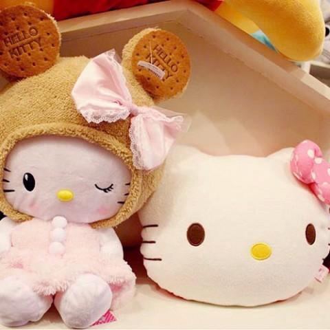 Bộ mèo bông và chăn gối Kitty