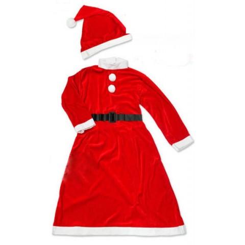 Bộ trang phục noel vải nhung bé gái (7-10kg)