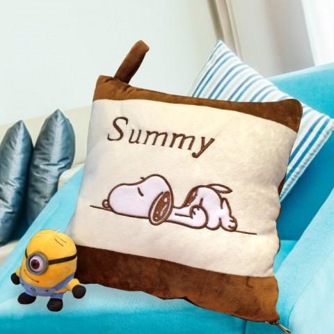 Bộ chăn gối 2 trong 1 hình chó Summy