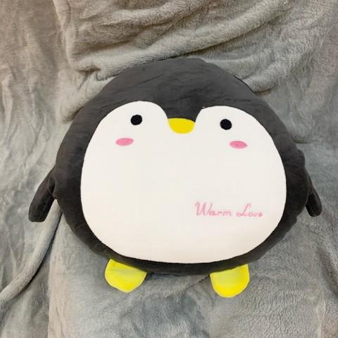 Bộ chăn gối 3 trong 1 chim cánh cụt dễ thương