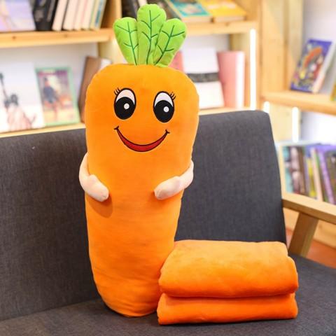 Bộ chăn gối 2 trong 1 cà rốt vui vẻ