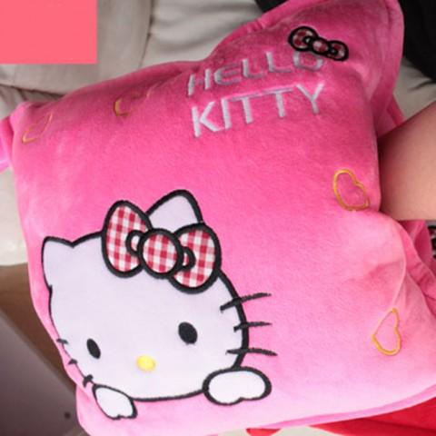 Bộ chăn gối 3 trong 1 hình Hello Kitty