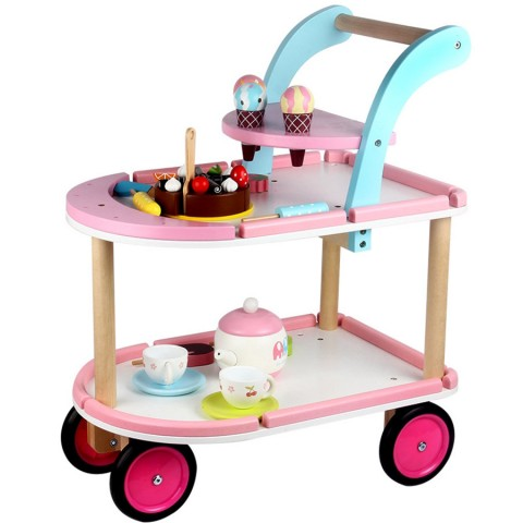 Bộ đồ chơi xe đẩy bánh và kem cho bé bằng gỗ cao cấp