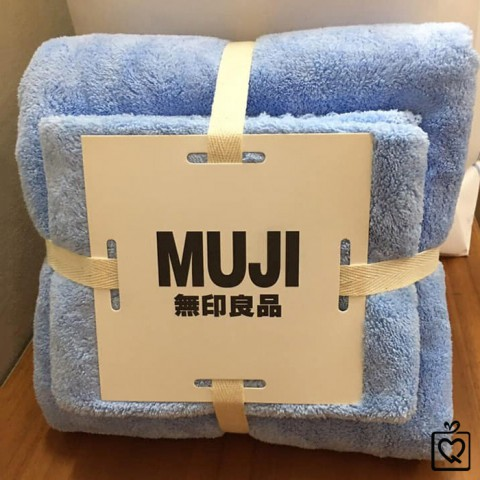 Bộ khăn tắm kèm khăn mặt mềm mịn MUJI
