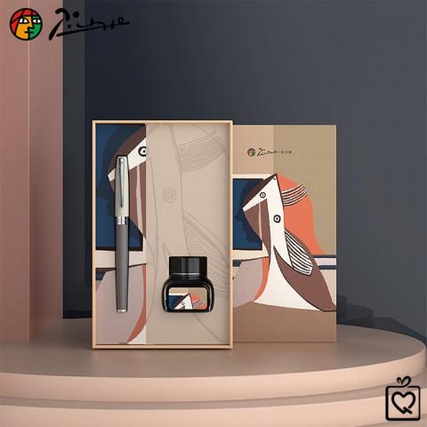 Bút Picasso nghệ thuật Morandi 717FGray - Bộ quà kèm lọ mực