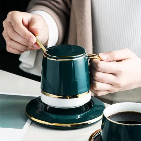 Bộ tách trà cà phê gốm sứ Kalandi cao cấp - Hộp quà tặng sang trọng
