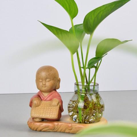 Bộ tượng cầm kỳ thi họa mini kèm lọ hoa