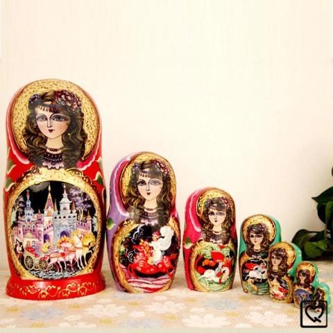 Búp bê Nga Matryoshka bộ 7 con - Công chúa ngủ trong rừng