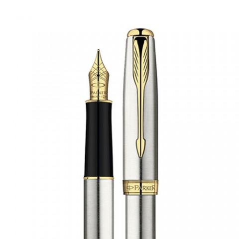 Bút máy Parker Sonnet 07 vỏ thép cài vàng
