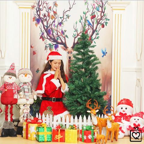 Cây thông Noel lá mỏng full phụ kiện trang trí