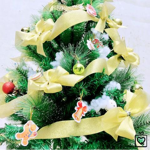 Cây thông Noel lá dày phủ tuyết full phụ kiện trang trí