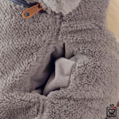 Bộ chăn gối 3 trong 1 hình chuột bông