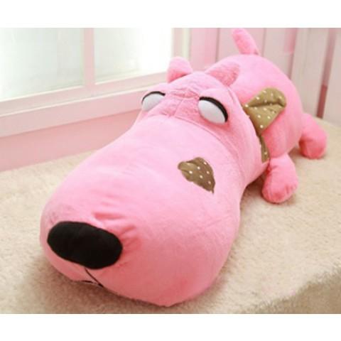 Chó bông Puco mặt ngu-hong-70cm