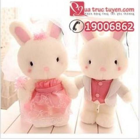 Gấu bông đôi thỏ Mimi-hong