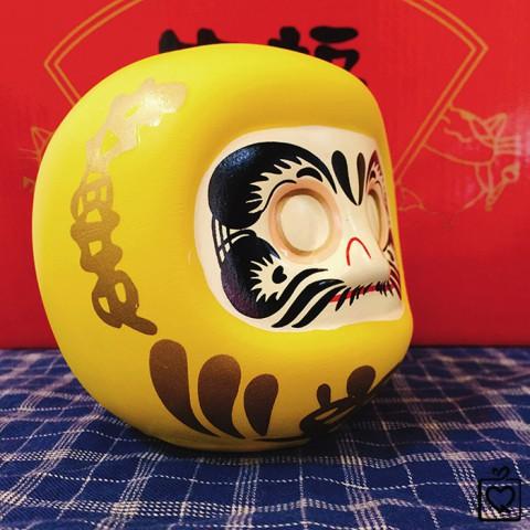 Búp bê Nhật Bản Daruma cầu tài - không tròng 10cm