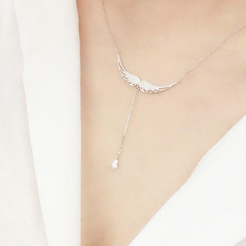 Dây chuyền bạc đôi cánh thiên thần