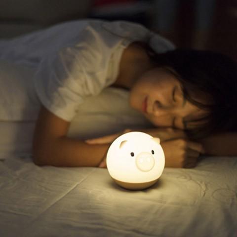 Đèn ngủ heo mập ngộ nghĩnh - Pin 3A, dây USB