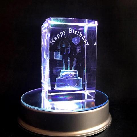 Đèn Pha lê 3D Happy Birthday