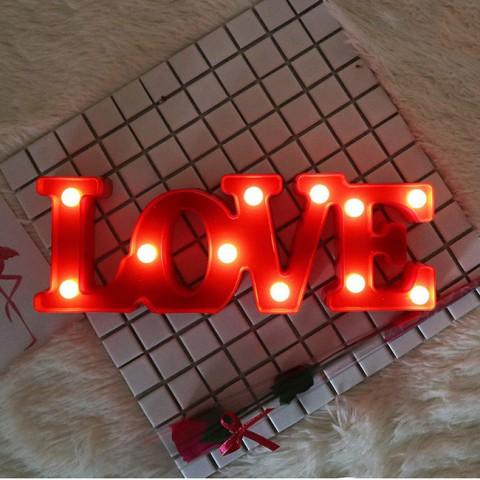 Đèn Led trang trí chữ Love
