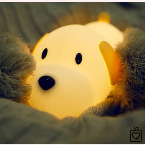 Đèn ngủ không dây cún con sạc USB