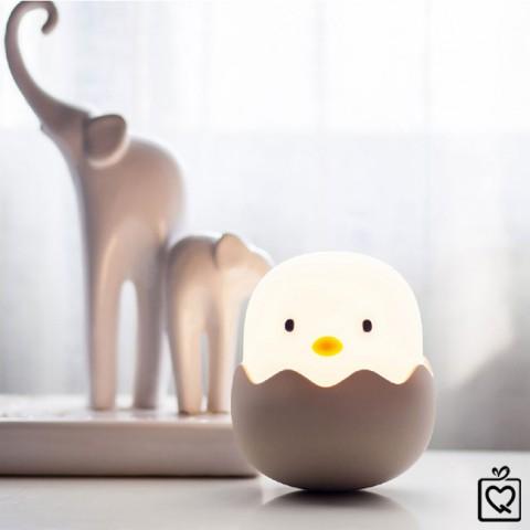 Đèn ngủ quả trứng gà ngộ nghĩnh- không dây, pin sạc USB