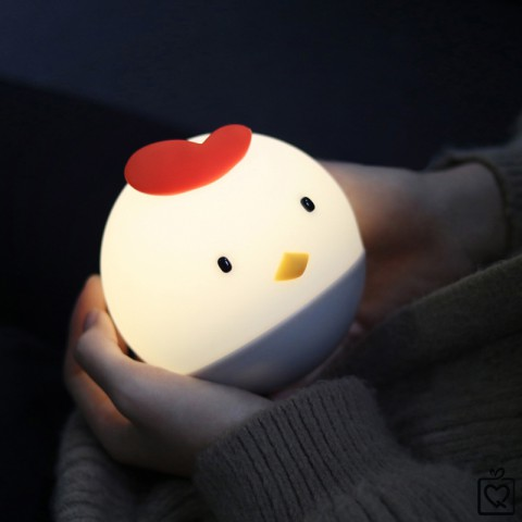 Đèn ngủ gà con dễ thương - pin sạc