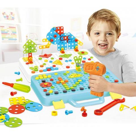 Quà tặng đồ chơi lắp ghép ốc vít cho bé trai 258 món