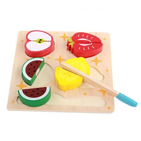 Đồ chơi gỗ làm bếp cắt thái đồ ăn cho bé