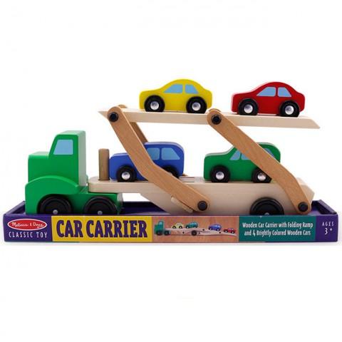 Đồ chơi gỗ xe ô tô tải hai tầng