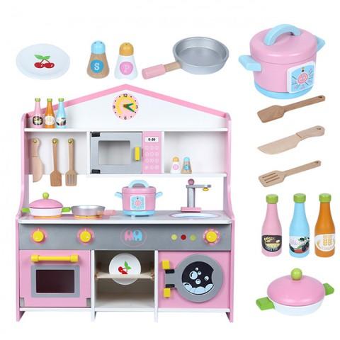 Bộ đồ chơi nhà bếp cho bé bằng gỗ cao cấp 72cm