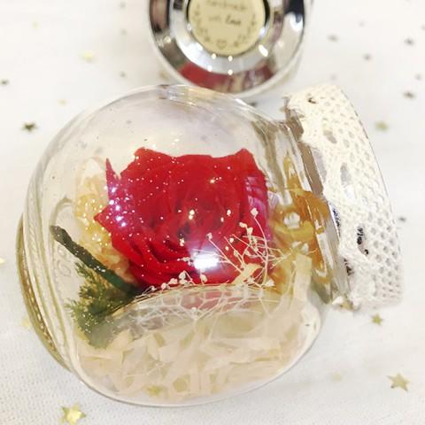 Hoa hồng bất tử lọ 1 bông (Màu hoa ngẫu nhiên)
