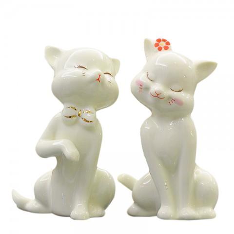 Đôi mèo sứ nghệ thuật