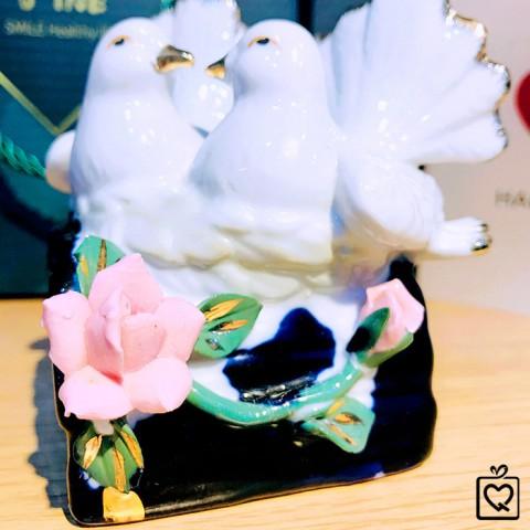 Đôi bồ câu gốm sứ nghệ thuật - Bách niên hoà hợp