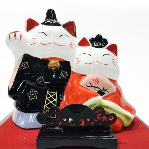 Đôi mèo phu thê-Hạnh Phúc Viên Mãn 10901-24cm