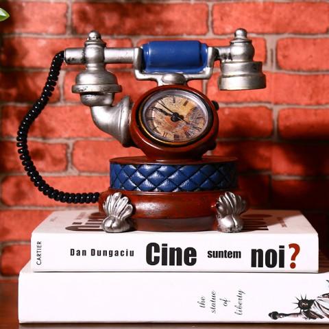 Đồng hồ để bàn điện thoại cổ Châu Âu